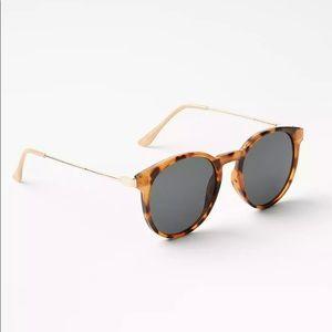 Loft tortoiseshell print round sunglasses